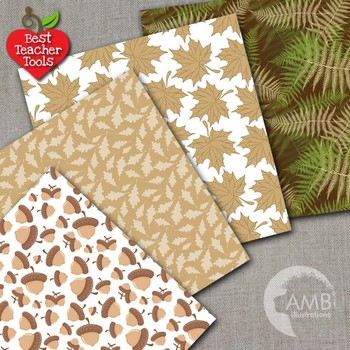 Fall Digital Papers, Autumn Leaves Background, {Best Teacher Tools} AMB-1304