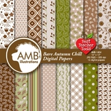 Fall Digital Papers, Autumn Leaves Background, {Best Teacher Tools} AMB-1404