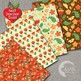 Fall Digital Papers, Floral Papers, Spicy Autumn Florals, AMB-1412