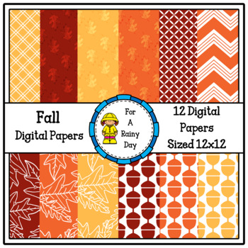 Fall Digital Papers (Yellow, Red, & Orange)