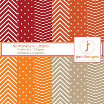 Fall Digital Patterned Background Papers - Halloween, Harv