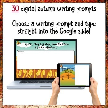 Fall Digital Writing Prompts for Google Drive®