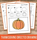 Turkey Directed Drawing - Thanksgiving Activities for Kind
