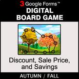 Fall: Discount, Sale Price, Savings - Digital Board Game |