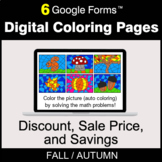 Fall: Discount, Sale Price, Savings - Digital Coloring Pag