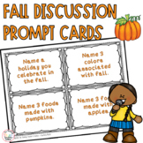Discussion Starter Cards Fall Themed Writing Prompts