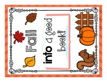 Fall Display Sign and Bookmarks