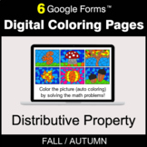 Fall: Distributive Property - Digital Coloring Pages | Goo
