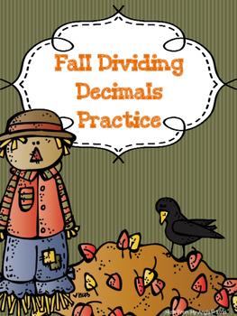 Fall Dividing Decimals Practice