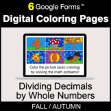 Fall: Dividing Decimals by Whole Numbers - Digital Colorin