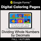 Fall: Dividing Whole Numbers by Decimals - Digital Colorin