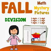 Fun Coloring Sheets Fall Division Worksheets, Mystery Picture Pages