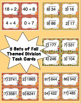 Fall Division Task Card Bundle