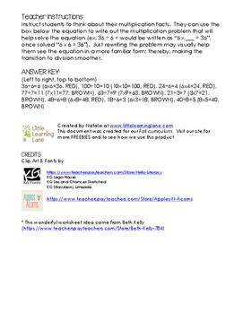 Fall Division Worksheet