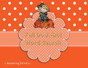 Fall Do-A-Dot Word Search