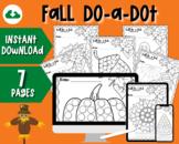 Fall Do-a-Dot Coloring Sheets