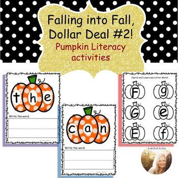 Pumpkin Literacy Activities& Centers-(Falling into Fall Dollar Deal #2)