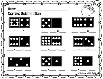 Fall Domino Addition and Subtraction Center