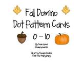 Fall Domino Dot Pattern Cards 0-10
