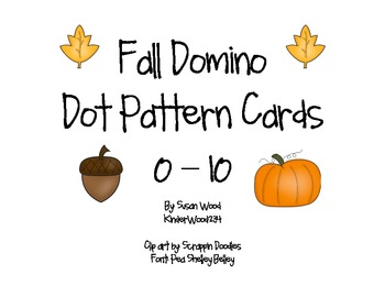 Fall Domino Dot Pattern Cards 0-10