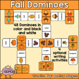 Fall Domino Game with Writing Activity Options - Seasonal