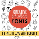 Fall Doodle Font- 52 Hand Drawn | CS Fall in Love with Doo