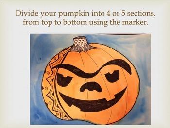 Zentangle Pumpkins; Fall Art Lesson - Pattern Pumpkins - Halloween Art