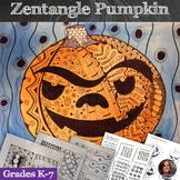 Zentangle Pumpkins; Fall Art Lesson - Pattern Pumpkins - H