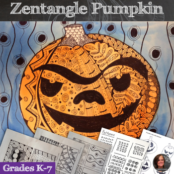 Zentangle Pumpkins; Fall Art Lesson