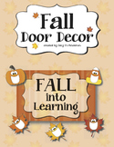 Fall Door & Bulletin Board Decor: Pumpkins, Candy Corn, &