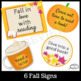 Fall Door Décor Kit with Writing Prompts