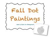 Fall Dot Paintings