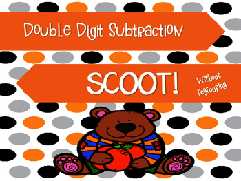 Fall Double Digit Subtraction Scoot