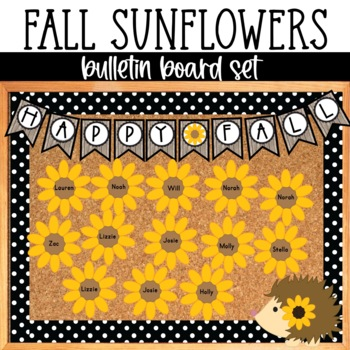 Fall EDITABLE Bulletin Board Set