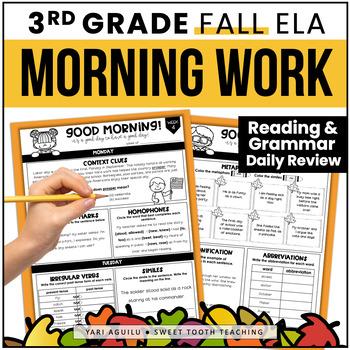 Fall ELA Morning Work
