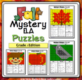3rd Grade Fall Color by Code ELA Mystery Pictures - Third Grade ELA Skills