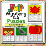 4th Grade Fall ELA Color by Code Mystery Pictures: Fourth
