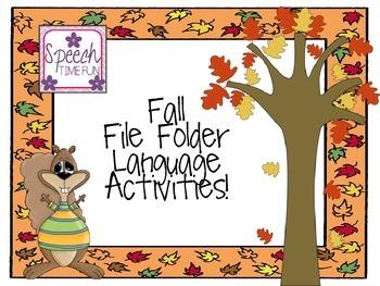 Fall Early Language File Folder Activities