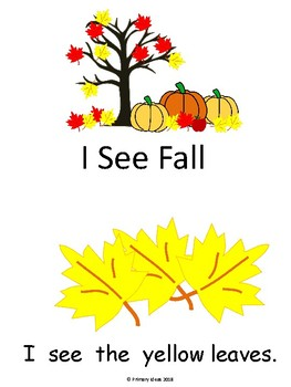 Fall Early Reader and Concept of Word Sort