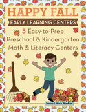 Fall Easy-To-Prep Math and Literacy Centers for Early Learning