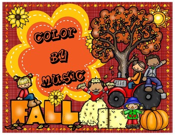 Fall Edition: Color By Music Activity Fun Packet - PDF Worksheet Collection