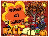 Fall Edition: Color By Music Activity Fun Packet - PDF Wor