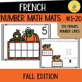 French Numbers 1-10 Math Mats I Fall Edition