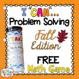 Fall Problem Solving Math Game