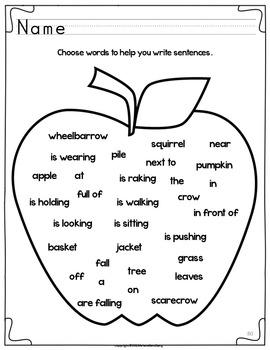 Fall Writing Activities