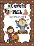 Fall/El Otoño- Descriptive Writing Craftivity - Spanish