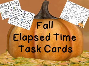 Fall Elapsed Time Task Cards