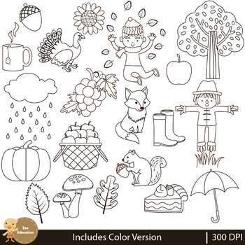 Fall Elements Clip Art