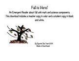 Fall Emergent Reader!