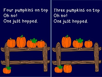 "Fall Emergent Reader- ""FIVE PUMPKINS ON TOP"""